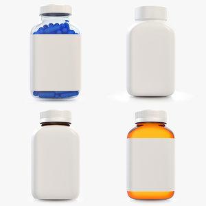 3D medicine bottles set 4