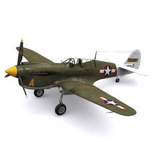 curtiss warhawk p-40n new 3D model