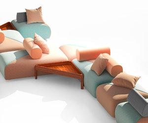 brixx modular garden sofa model
