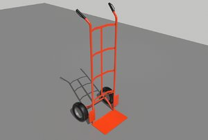 industrial hand trolley 3D model