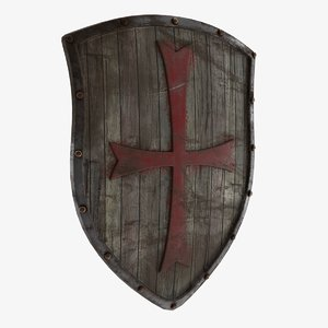 3D wooden shield 2