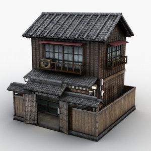 3d model of house japanese japan