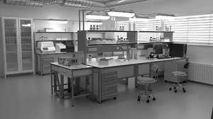 3D chemist laboratory lab model