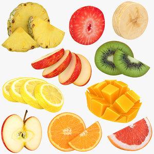 3D model fruit slices