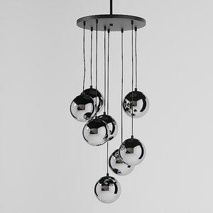 3D model ross 8 bulb chandelier
