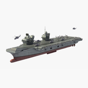 royal navy cvf aircraft carrier 3D