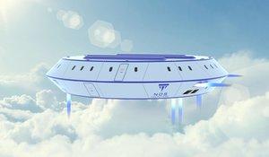 3D model ufo aircraft