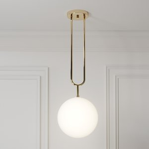 koko fixed pendant light 3D model