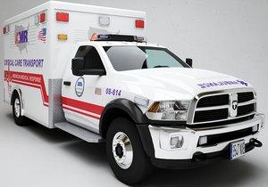 3D ambulance model
