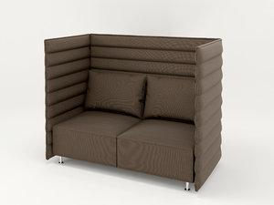 3D sofa alcove plume contract model