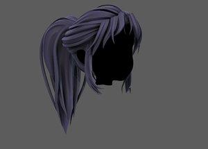3D model hair style girl v87