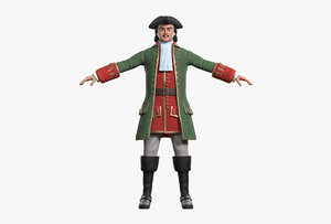 character peter great 3D model