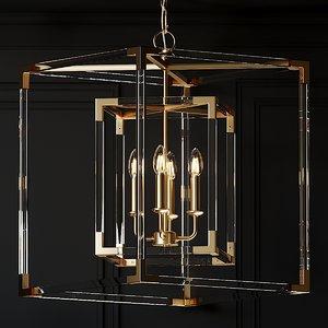phoebe acrylic chandelier 3D model