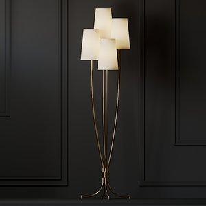 floor lamp ballard designs 3D model