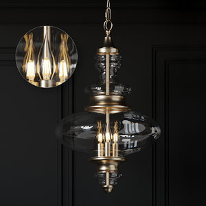 ceiling ballard designs mila 3D