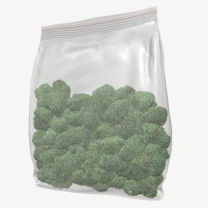 3D weed bag model
