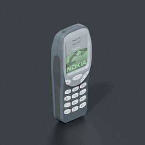 3D model nokia 3210 mobile phone