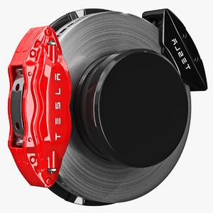 3D model brakes tesla car