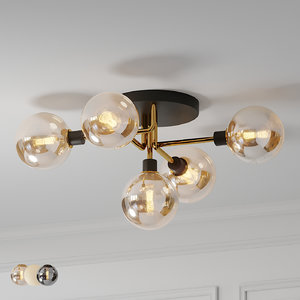 3D model century style ceiling lamp