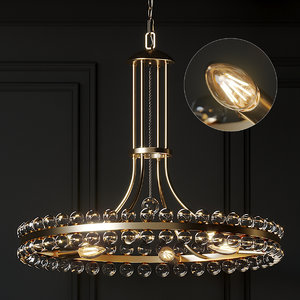 ceiling lights crystorama clover 3D