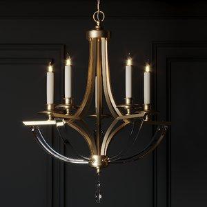 3D model ceiling lights john-richard bent