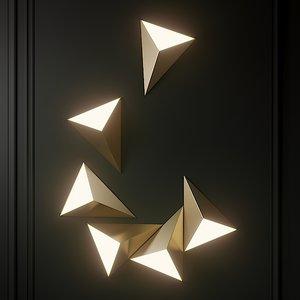 sconce cvl luminaires tetra 3D