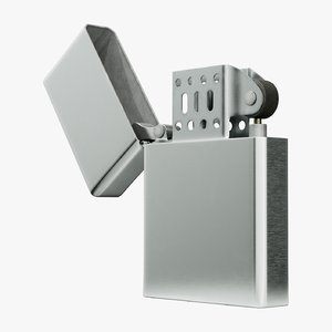 metal lighter 3D model