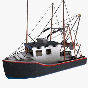 3D fishing boat interior