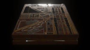 3D panel set ready render model