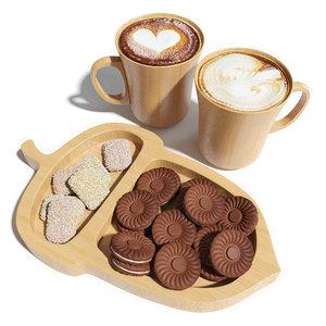 3D model acorns cappuccino