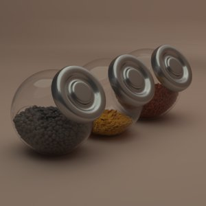3D glass jars raitan ikea