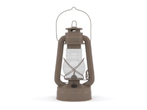 old kerosene lamp 3D