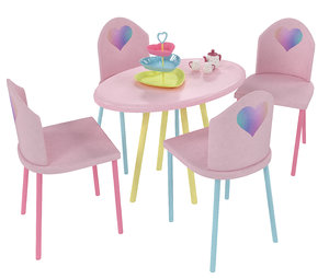 kids table chairs set 3D