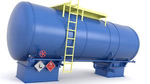 3D oil pressure tank