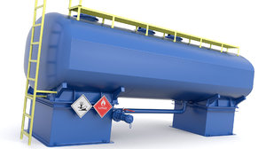 oil pressure tank 3D model