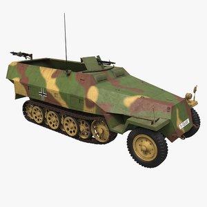 3D sd kfz 251 model