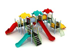 metal playground slide 3D