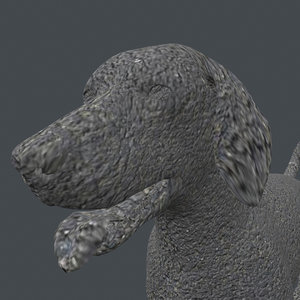 3D rigged dog standing place