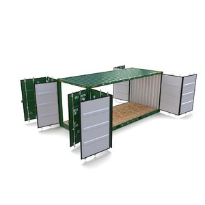 20ft shipping container double 3D