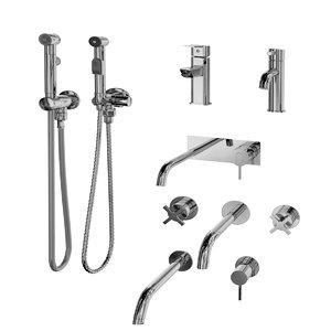 3D hygienic shower sink mixel