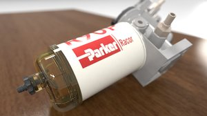 3D diesel filter model