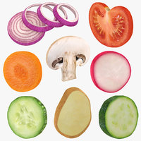 Round Vegetable Slice Collection