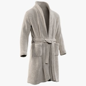 3D model realistic men s bathrobe
