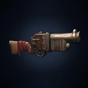 stylized gun model