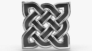 celtic pattern 3D