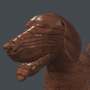 3D rigged dog standing place model