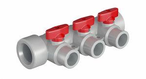 3D model pipe elbow