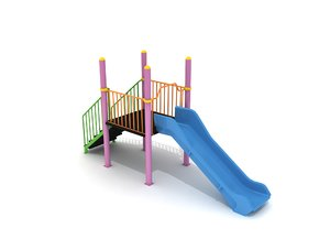 3D metal playground slide model