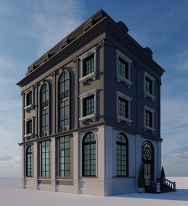 classical villa 3D model