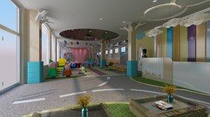 kindergarten playground 3D model